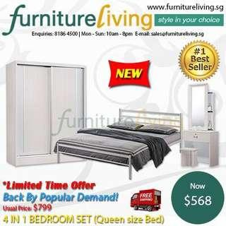New 4 in 1 Bedroom Package Set for only $568