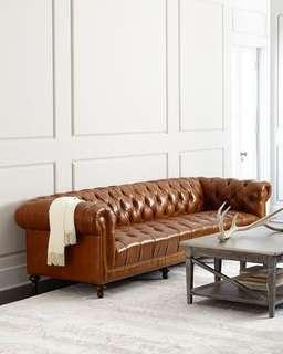 Chesterfield leather sofa from England