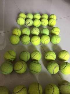 Used tennis ball for training 50 balls