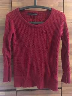 🚚 深紅色毛衣