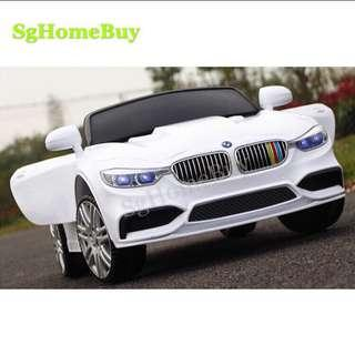 In-stock - Bmw kids electric ride on car in white