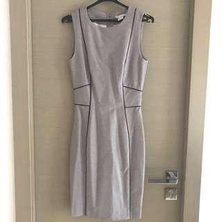 H&M grey pencil work dress 灰色貼身返工裙