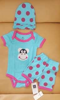 Newborn_babygap_bluepink sheep 3pcs set