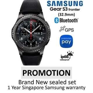 Samsung Gear S3 frontier brand new sealed set