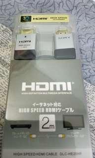 SONY 1080P高清聲畫HDMI線(2M)包平郵或順豐到付