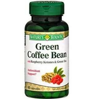 Nature's Bounty Green Coffee Bean Extract with Raspberry Ketones 60 caps