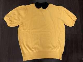 Yellow knit wear