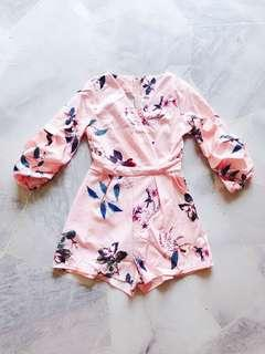 Baby Pink Floral Romper / Jumpsuit #SINGLES1111