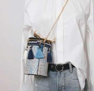 🚚 [In Stock!] Embroidery tribal bucket sling tassel bags