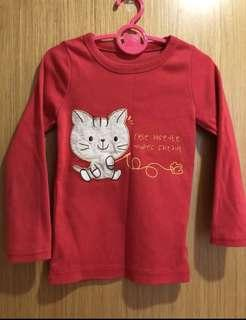 🚚 #single11 - red kitty tee