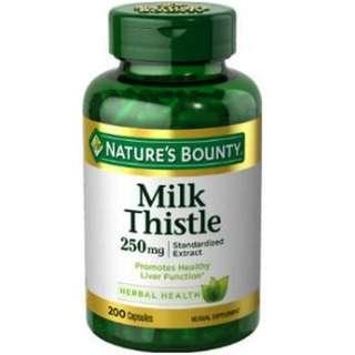 Nature's Bounty Milk Thistle 250mg 200 Natural Capsules