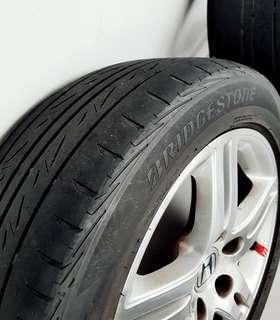"Honda rim with Bridgestone tyre 16"""