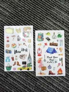 2sheets Journal Travel DIY deco Stickers 0.1