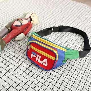 Multicoloured FILA bum bag