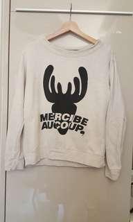 日本製Mercibeaucoup米色衞衣(1碼7,8成新少污附圖)