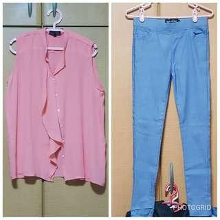 2x L size blouse and pant for $12