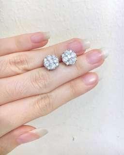 Cz Diamond Earrings Gp18k