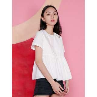 babydoll shirt in white