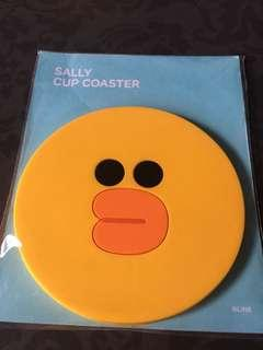 Sealed Instock Official line friends sally cup coaster made of plastic silicone