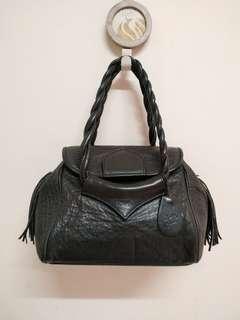 Black lbiza Genuine Leather  Handbag
