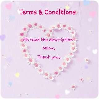 ➖Terms & Conditions➖