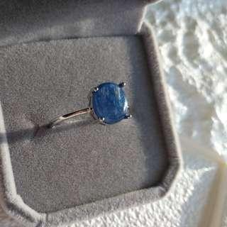 👑天然藍晶戒指