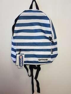 🚚 outdoor 後背包 全新 正品 條紋 藍白條紋