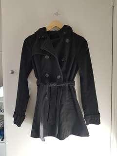 Black coat with hood