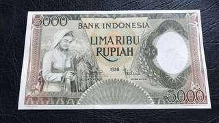 1958 Indonesia 5000 Rupiah