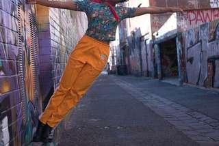 Orange tracksuit pants