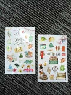 2sheets Journal Travel DIY deco Stickers 0.2