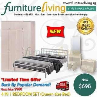 New 4 in 1 Bedroom Package Set for only $698