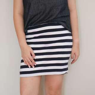 H&M Striped Bandage Skirt
