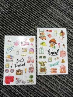 2sheets Journal Travel DIY deco Stickers 0.3