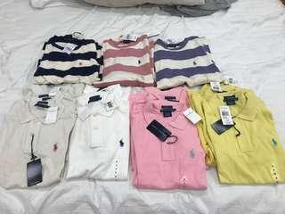 RALPH LAUREN POLO AND JUMPERS