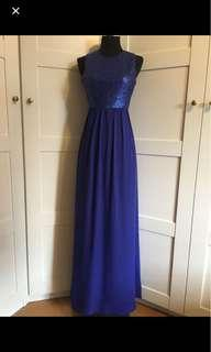 Sequin dress/ blue gown / blue dress/ blue maxi dress/ blue sequin gown/ prom dress/ dnd dress/ evening gown/ blue Long dress/ performance dress