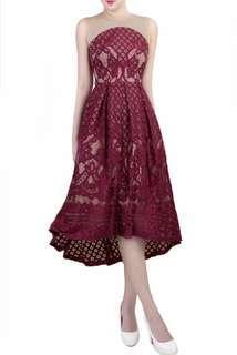 BNWT Doublewoot Maroon Dress