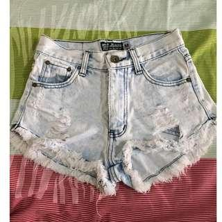 Punny Jeans Ripped Shorts