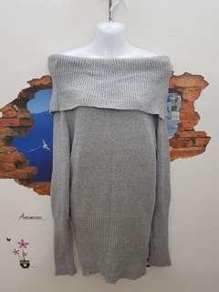 🚚 一字領針織洋裝