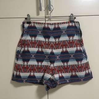 Zara aztec high waist shorts