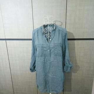 Zara blue cotton shirt