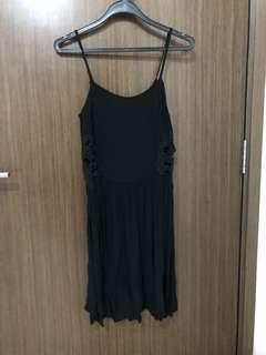 Topshop black dress with side lace details