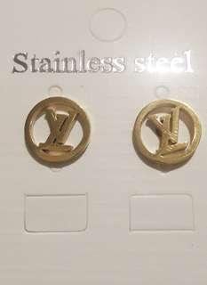 Stainless Steel Letter LV Earrings
