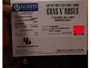 Guns n roses ticket