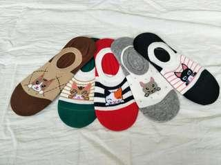 🚚 Cute cat boat socks