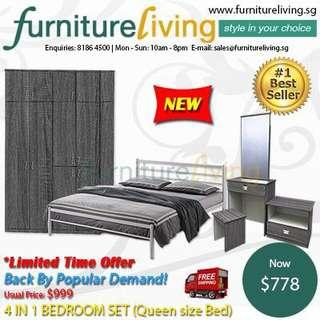 New 4 in 1 Bedroom Package Set for only $778