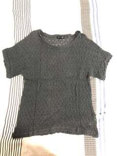 🚚 Topshop Dark grey knitted top #single11