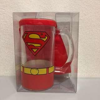 Superman clear glass with red cape