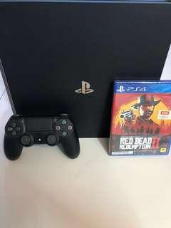 WTS- PS4 Pro 1TB with Red Dead Redemption 2