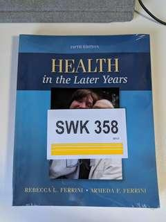 Health in the later years by Ferrini (fifth edition) brand new